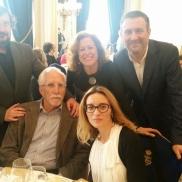 Con Luis Mateo Díez, Berna González-Harbour, Fernando Royuela y Palmira Márquez (2016)