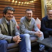 Con José Antonio Mesa y Pablo Aranda (2015)