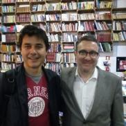 Con Laurent Binet (2016)