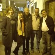 Con Maylis de Kerangal, Edurne Portela, José Ovejero y Javier Cercas (2017)