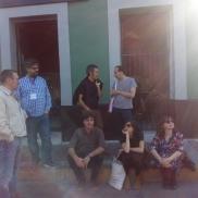 Con Sergio del Molino, Carlos Pardo, Giuseppe Caputo, Andrés Barba, Lara Moreno y Mercedes Cebrián (2017)