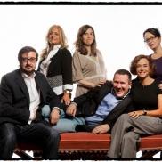 Con Fernando Royuela, Lola Beccaría, Mercedes Cebrián, Nuria Barrios y Marta Sanz, retratados por Daniel Mordzinski