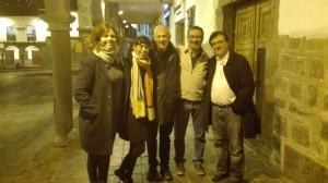 Con Maylis de Kerangal, Edurne Portela, José Ovejero y Javier Cercas